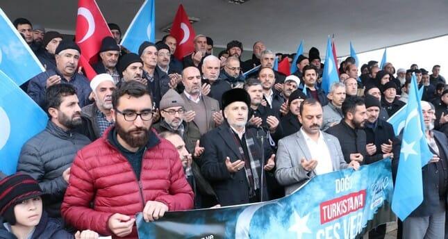 مسيرات احتجاجية لدعم تركستان الشرقية في العديد من المدن التركية