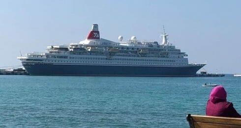 ولاية آيدن الساحلية تستقبل أول سفينة كروز للموسم السياحي 2019