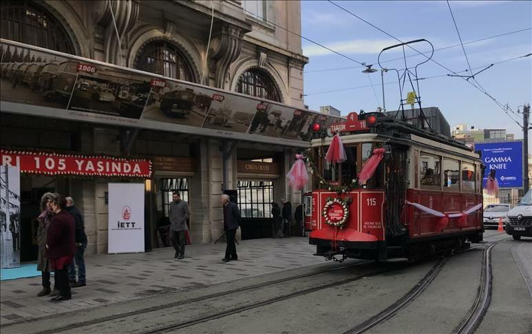إسطنبول تحتفي بـ105 سنوات لتأسيس ترام تقسيم الكهربائي