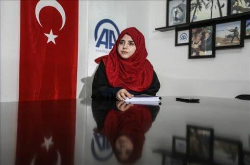 رقية ديمير.. أول تركية تنال الماجستير من جامعة بغزة