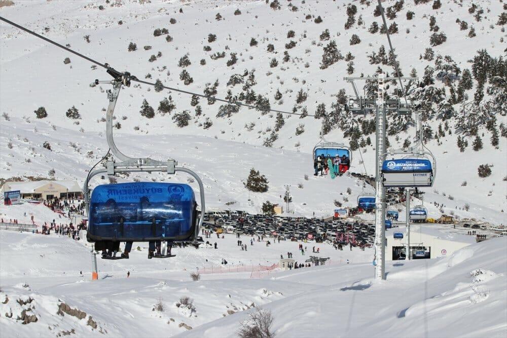 """20200105 2 40172227 50938821 Web - خلال يومين.. 25 ألفا يستمتعون بالتزلج في مركز """"دنيزلي"""" التركي"""