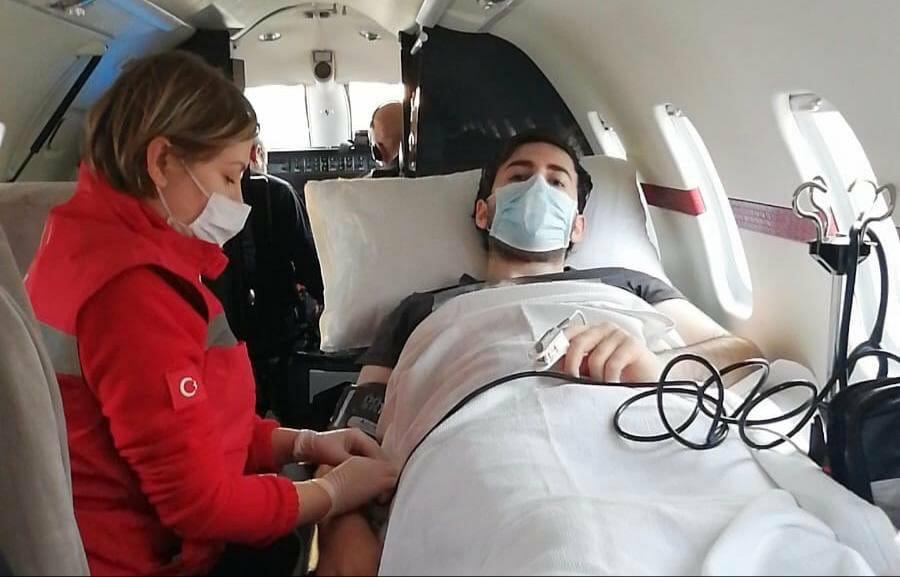 EWsJtNWWkAEpOrp - طائرة تركية خاصة تتطير إلى روسيا لإحضار طالب مريض