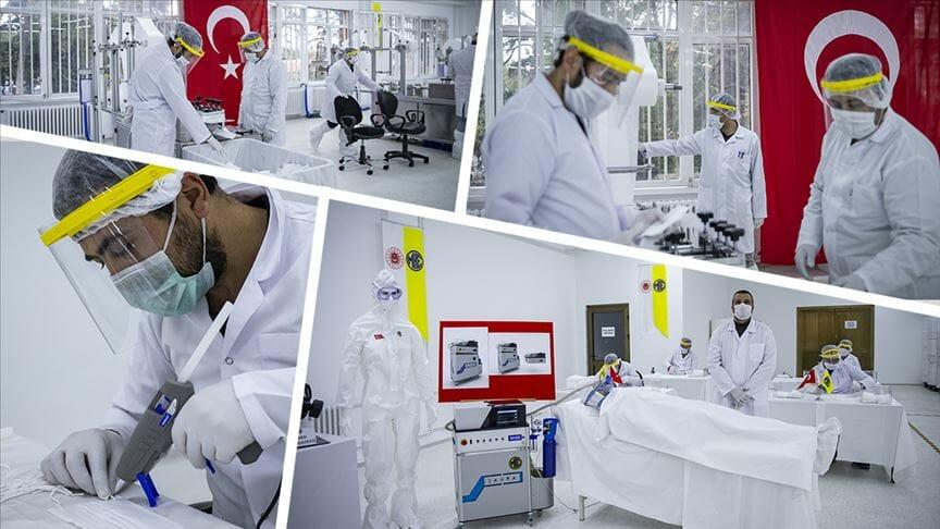 الدفاع التركية تشرع في انتاج أجهزة تنفس لدعم مكافحة كورونا