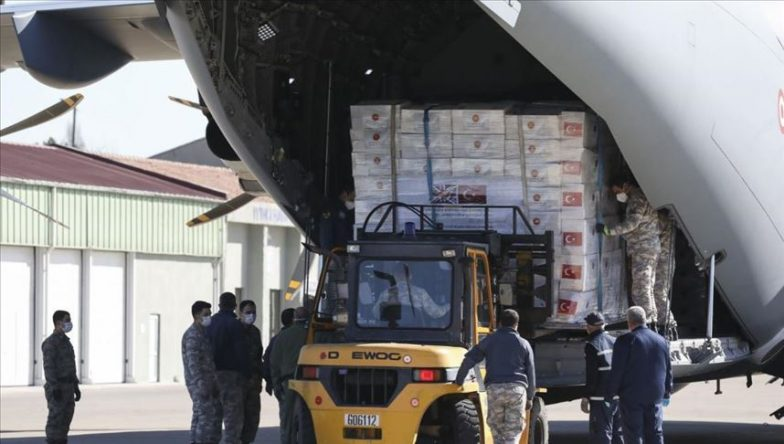 تركيا.. إقلاع طائرة تضم مساعدات طبية نحو بريطانيا