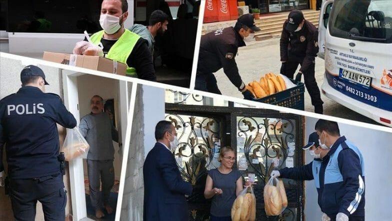 حتى باب المنزل.. شرطة إسطنبول توفر الغذاء خلال حظر التجوال