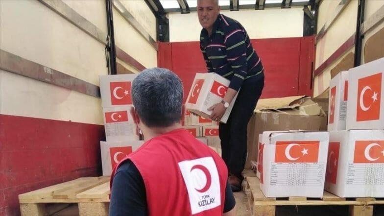 مساعدات رمضانية تركية إلى منطقة نبع السلام بسوريا
