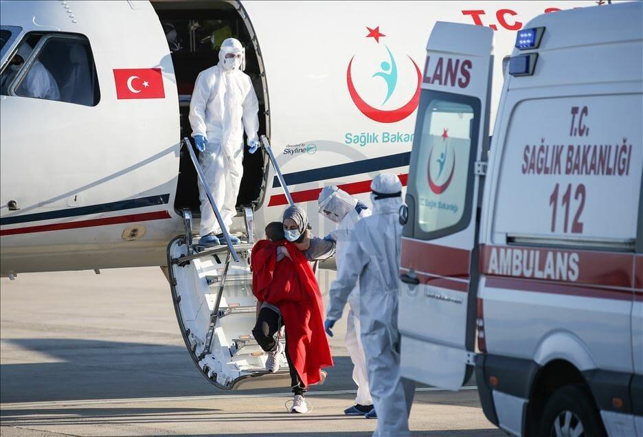 thumbs b2 fdbdfaaf77e51749da761f87a043614f - للمرة الثالثة.. تركيا تجلي مواطنة من بنغلاديش بطائرة إسعاف