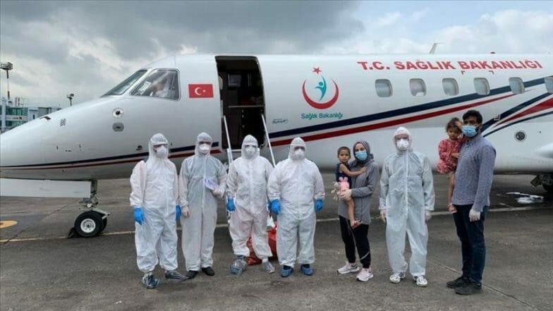 للمرة الثالثة.. تركيا تجلي مواطنة من بنغلاديش بطائرة إسعاف