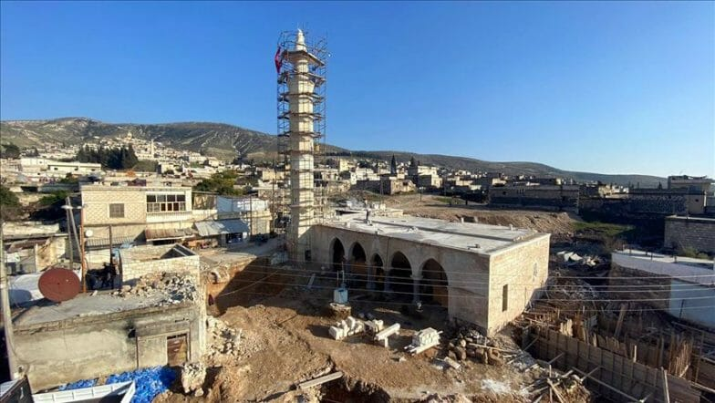 """تركيا ترمم مقام """"النبي هوري"""" ومسجد في عفرين السورية"""