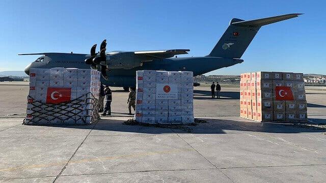 مساعدات طبية تركية في طريقها للجزائر وصربيا وباراغواي