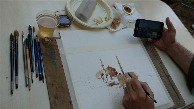 إسطنبول.. ورشة لفن الرسم بالقهوة