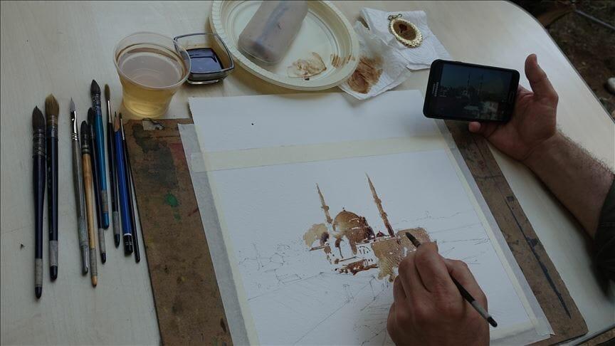 thumbs b c 52ba02f35adf74746fb9d05b233253c3 - إسطنبول.. ورشة لفن الرسم بالقهوة