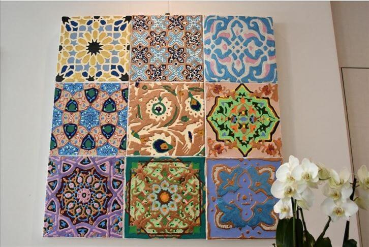 الزخارف الإسلامية والعثمانية مصدر إلهام فنان إيطالي