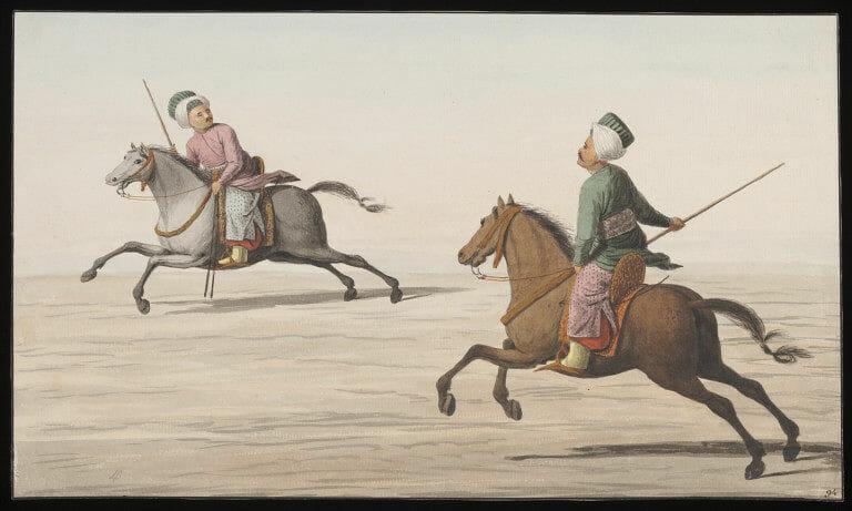 Two men playing cirid - الأسلحة المستعملة في الجيش العثماني (3)