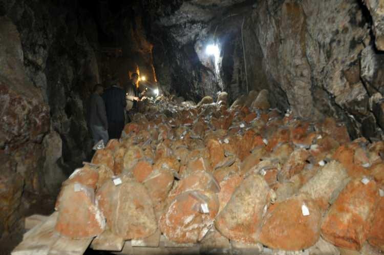 ازدياد الطلب على (جبنة الغار) المصنعة في كهوف مدينة (كرامان) التركية
