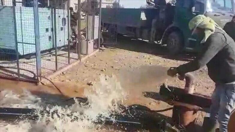 تركيا تزود المناطق السورية المحررة من الإرهاب بمياه الشرب