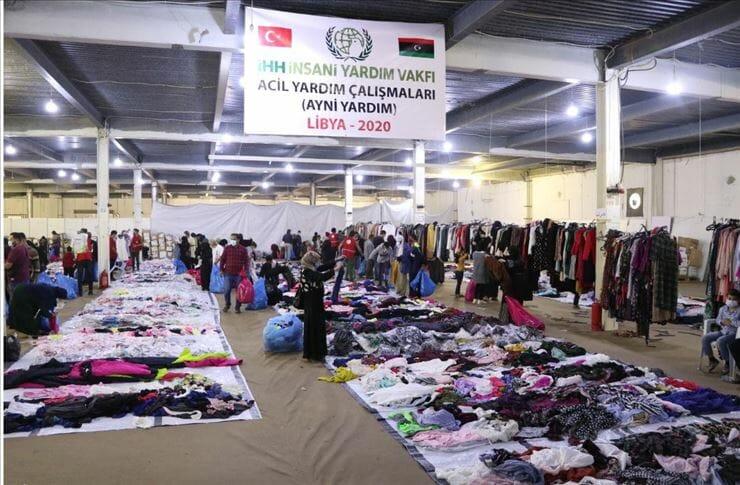 """""""الإغاثة الإنسانية"""" التركية تفتتح سوقاً خيرياً بمصراتة الليبية"""