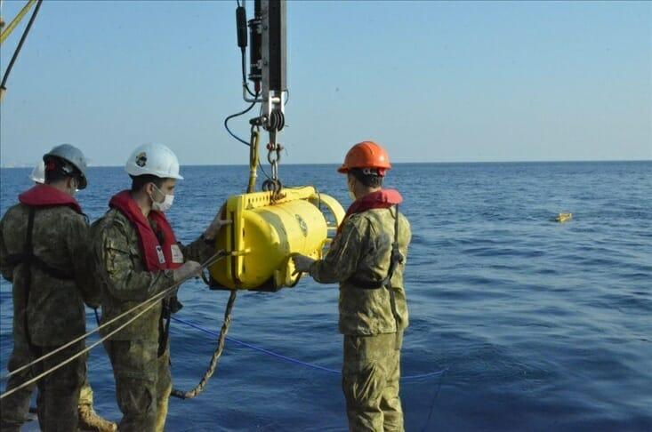 """2800 متر.. تركيا تجري أعمق عملية تصوير """"سونار"""" تحت البحر"""