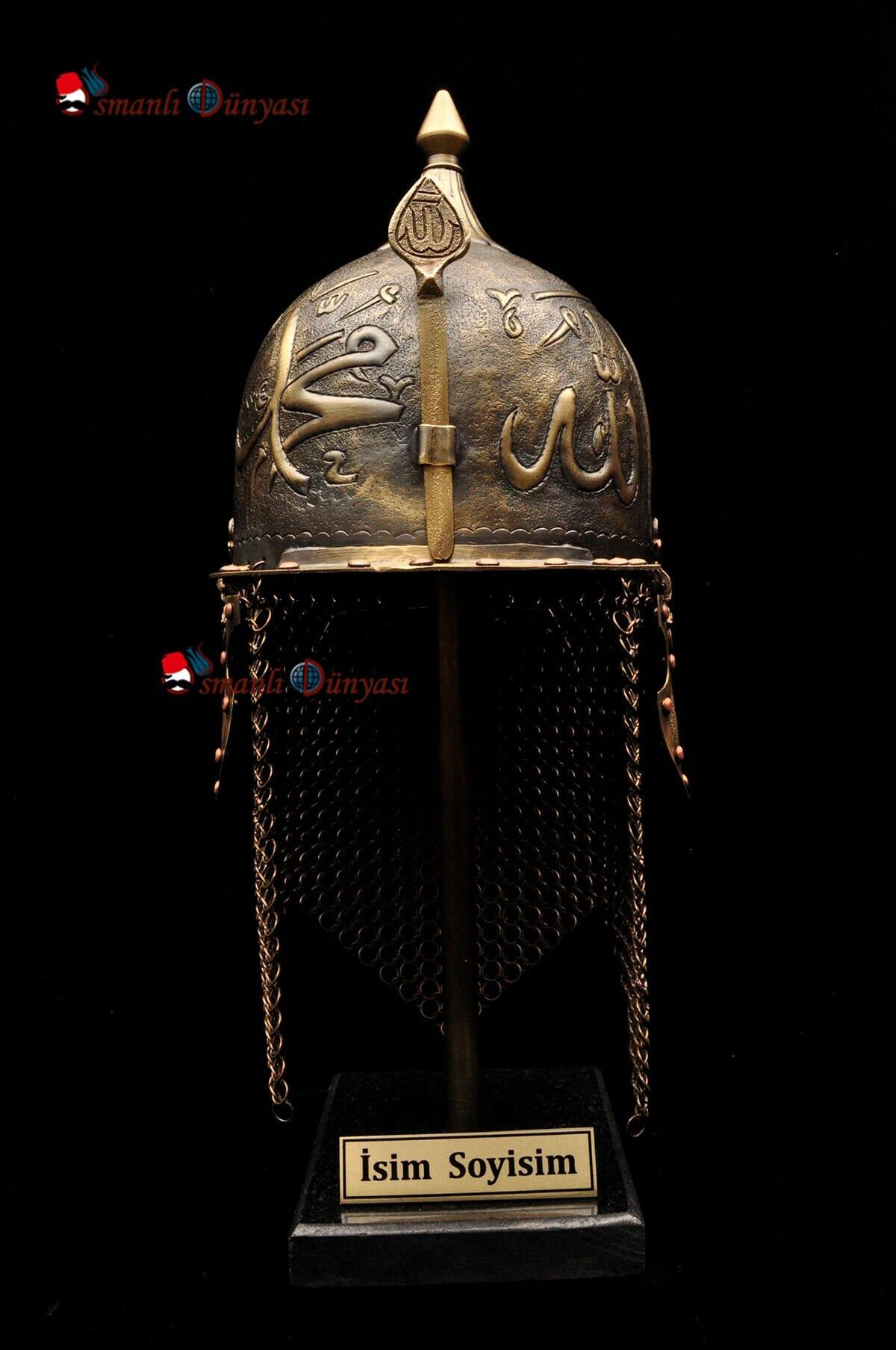 ufak boy dekoratif migfer 58a9 - الأسلحة المستعملة في الجيش العثماني (10)
