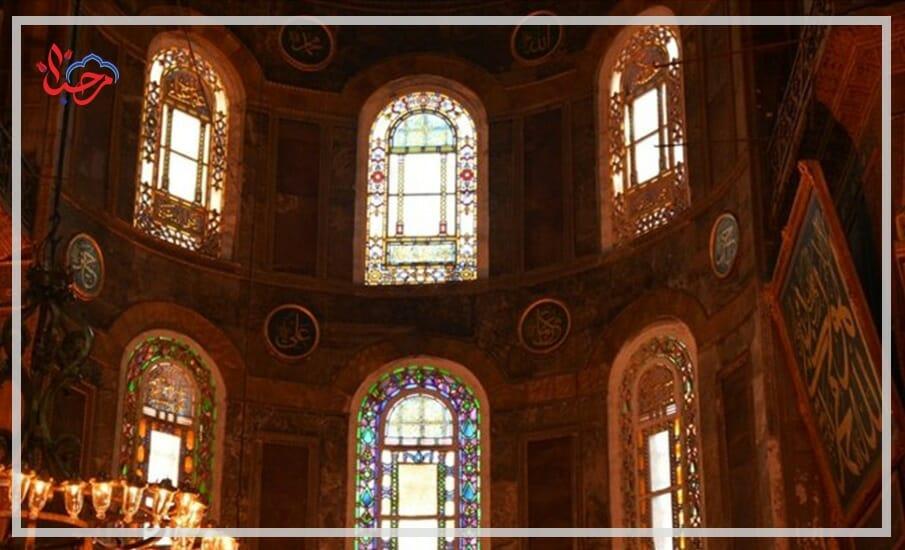 WhatsApp Image 2021 01 21 at 1.33.26 PM - نظرة تاريخية حول لوحات الخط في مسجد آيا صوفيا