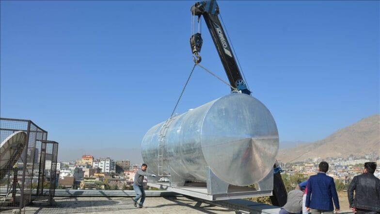 تيكا التركية تحفر بئرا لجامعة في العاصمة الأفغانية