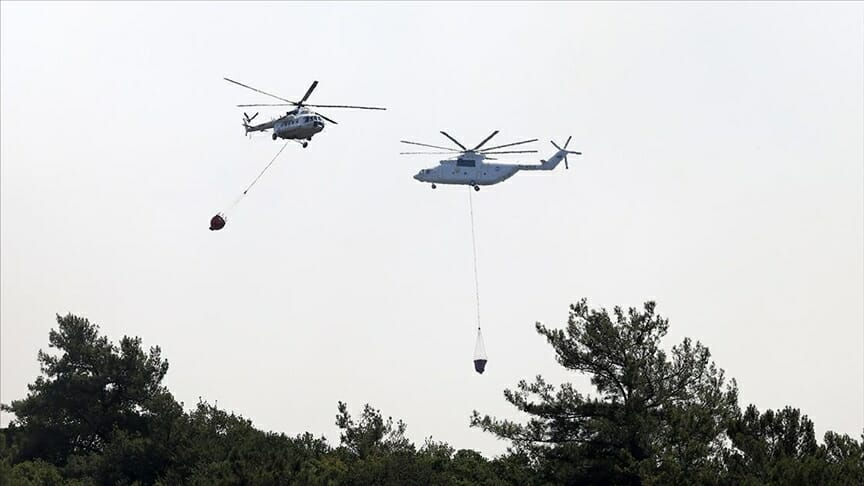 أردوغان يعلن السيطرة على حرائق الغابات في تركيا