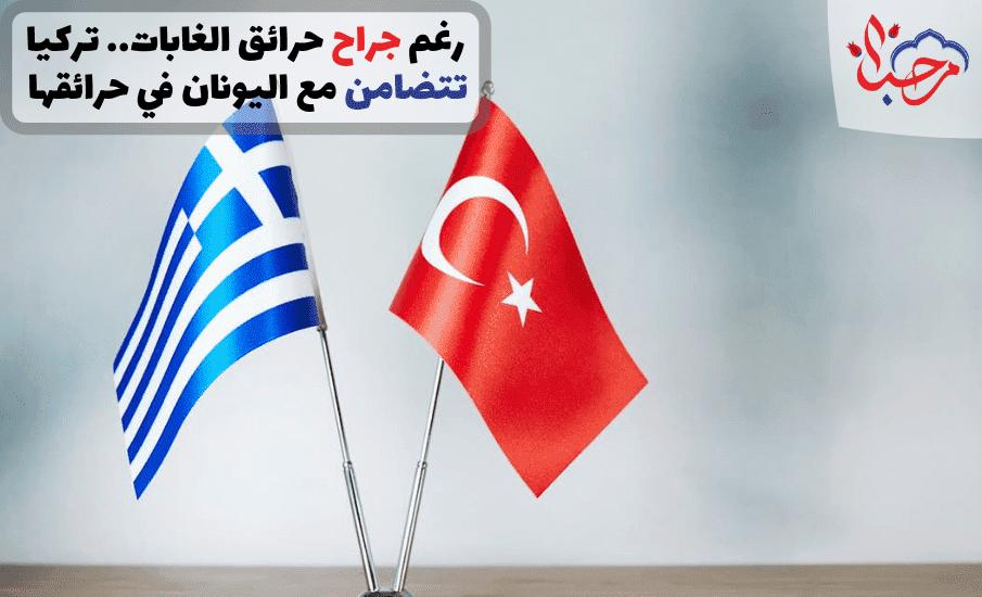 رغم جراح حرائق الغابات.. تركيا تتضامن مع اليونان في حرائقها