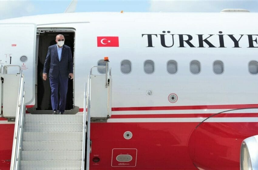 أردوغان يصل الأراضي التركية بعد زيارة نيويورك