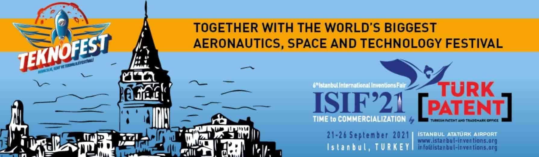 الإعلان الخاص بمعرض الاختراعات الدولي في إسطنبول 2021