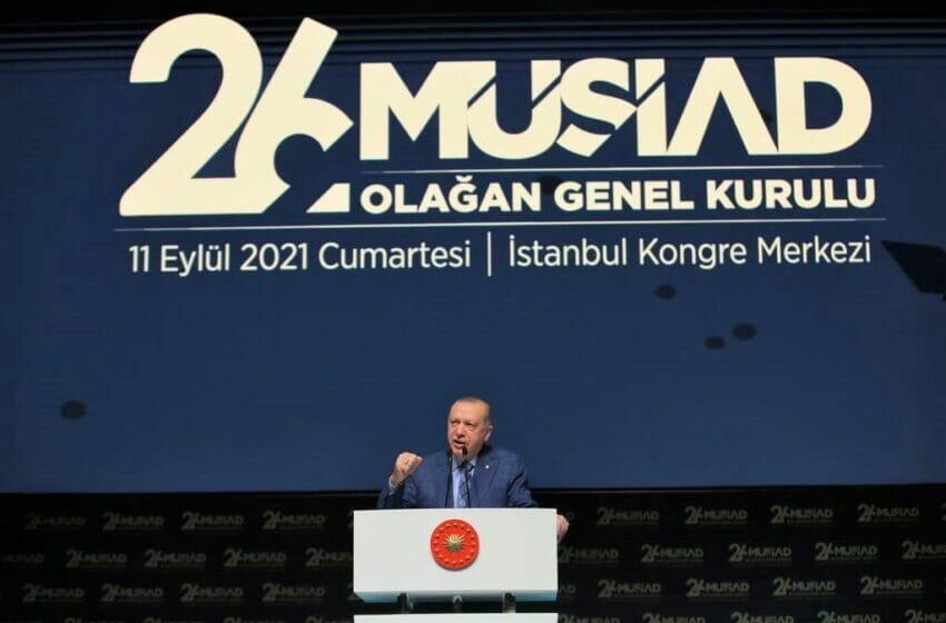أردوغان في حفل تعيين رئيس جديد للموصياد 2021