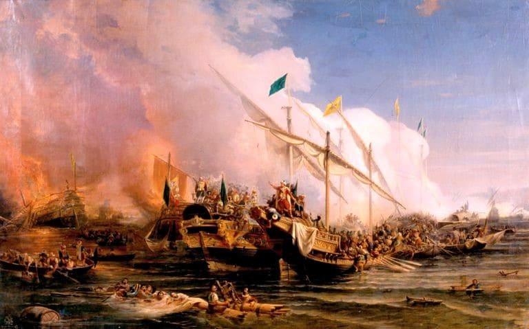 صورة تعبيرية عن معركة بروزة - قوات البحرية التركية ستواصل الإسهام بالسلام