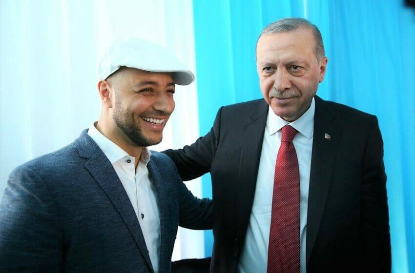 ماهر زين مع الرئيس التركي رجب طيب أردوغان